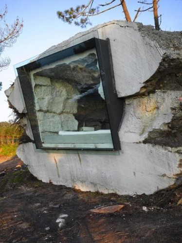 unusual concrete shelter