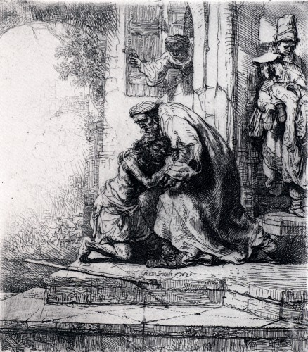 Rembrandt Prodigal Son Etching