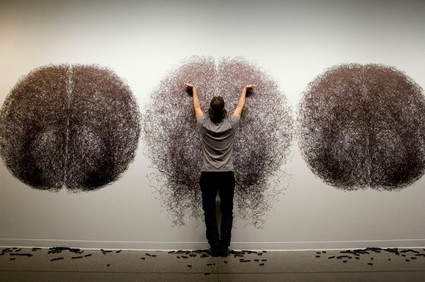 Tony Orrico - drawing