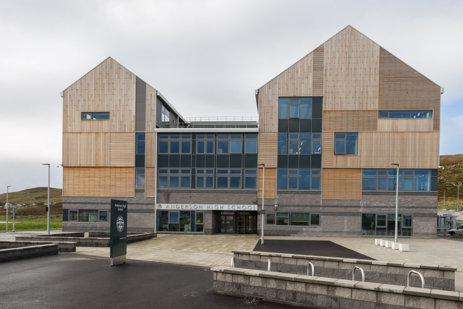 high school and halls of residence education