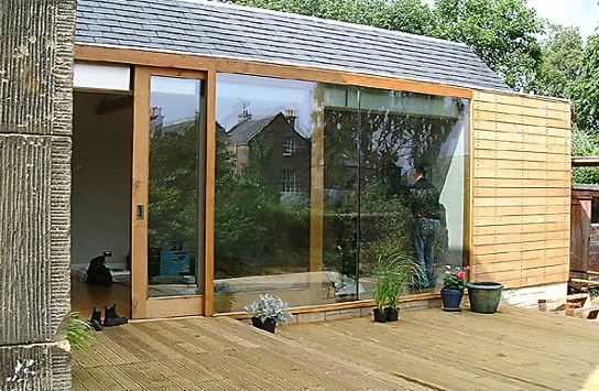 Garden room cumin place housing scotland 39 s new for Garden house extension