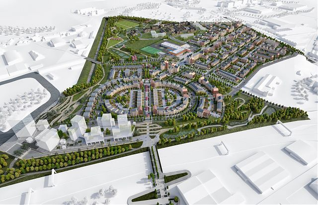 Sighthill Residential Masterplan View from the South