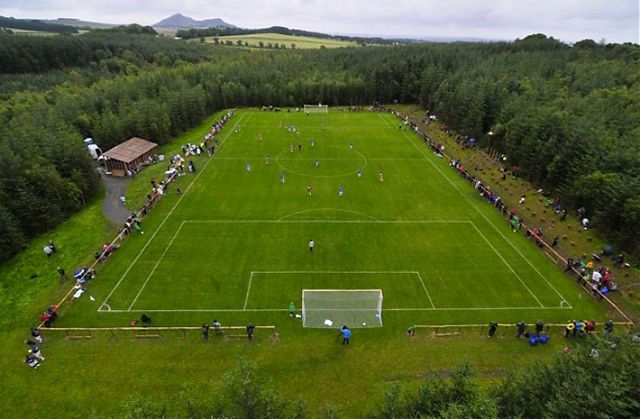 The pitch on matchday