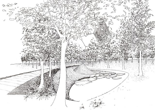 Sketch view Right Livelihood Forest