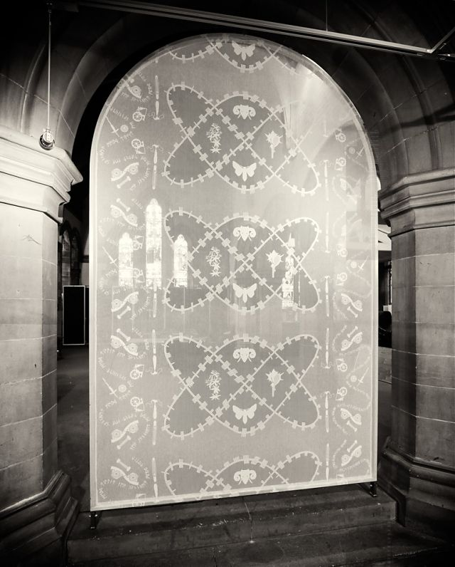 Installation Govan Church. 'Weaving Truth With Trust'