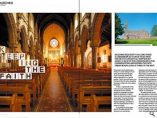 Declining religiosity has long posed a conundrum as to what to do with  our rich ecclesiastical heritage but amidst a a slew of pub conversions a  few congregations are keeping the faith. Urban Realm looks at three of  the best.