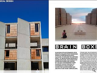 Alan Dunlop has expanded upon insights gleaned from pioneering work at Hazelwood School, Glasgow, to explore the growing impact of neuroscience research on architecture. Discussing how human responses are shaped by the built environment from our body clocks through to our sense of touch Dunlop shows that neuroscience and architecture share common aims.