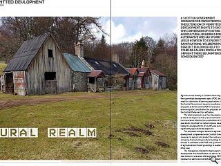 <p>A Scottish Government consultation paper proposing the extension of permitted development rights to facilitate the conversion of existing agricultural buildings for alternative use has spurred Leslie Howson to explore its ramifications. Will repurposing derelict buildings help to stabilise falling populations or might there be unintended consequences?<br /> &nbsp;</p>