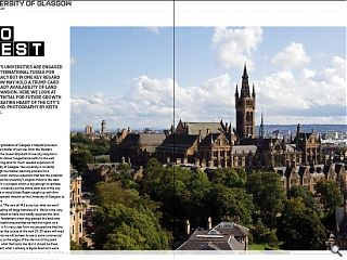 Britain's universities are engaged in an international tussle for  supremacy but in one key regard Glasgow may hold a trump card - the  ready availability of land for expansion. Here we look at the potential  for future growth in the beating heart of the city's west end.  Photography by Keith Hunter.