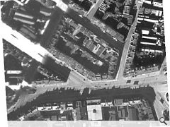 Aerial view of Picardy Place, 1940