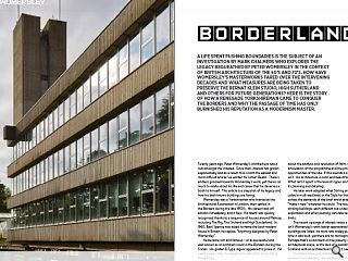 <p>A life spent pushing boundaries is the subject of an investigation by Mark Chalmers who explores the legacy bequeathed by Peter Womersley in the context of British architecture of the 60&rsquo;s and 70&rsquo;s. How have Womersley&rsquo;s masterworks fared over the intervening decades and what measures are being taken to preserve the Bernat Klein Studio, High Sutherland and others for future generations? Here is the story of how a renegade Yorkshireman came to conquer the borders and why the passage of time has only burnished his reputation as a modernism master.</p>
