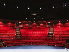 Deep reds evoke the golden age of theatre going in the thirties