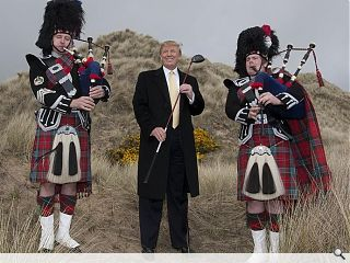 With a putative presidential bid in the pipeline and a recently bestowed  honorary degree from Aberdeen's Robert Gordon University the world's  most pugnacious developer has come a long way from his family roots on  his mother's side to the Isle of Lewis. It is the £750m Trump  International Golf Links at Menie however which is of most interest to  Urban Realm. Proponents hail it as an important step toward diversifying  the Aberdeen economy but vocal opponents counter it will defile an area  of outstanding natural beauty. But with the detailed masterplan  approved and construction of the golf course now proceeding apace can  Aberdeen have its cake and eat it? We travelled to Manhattan to find  out.