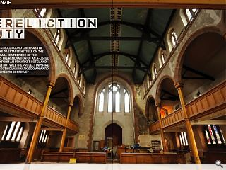 We take a stroll round Crieff as the town seeks to establish itself on  the tourism trail. Centrepiece of this ambition is the renovation of an  A-listed church to form an upmarket hotel and holiday let but will the  project inspire - or is the gothic landmark's downward spiral doomed to  continue?<br/>