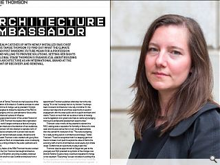 <p>Urban Realm catches up with newly installed RIAS chief executive Tamsie Thomson to find out what the climate crisis and post pandemic future mean for a profession ready and willing to provide solutions. Setting her sights on the global stage Thomson is evangelical about building scottish architecture as an international brand at the forefront of recovery and renewal.</p>