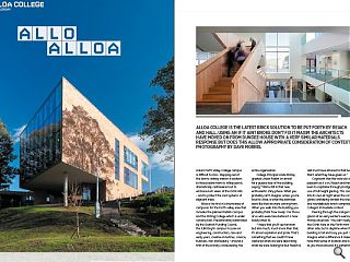 Alloa College is the latest brick solution to be put forth by Reiach  & Hall. Using an if it aint broke don't fix it maxim the architects  have moved on from Dundee House with a very similar materials response.  But does this allow appropriate consideration of context?