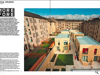 With the private residential market gummed up from a lack of finance, it has been left to housing associations to light the way ahead. Displaying a fresh interpretation of traditional back court and tenemental forms this Scotstoun infill puts backcourt housing to the fore.<br/>