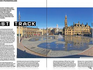 <p>Numerous&nbsp; visions to rebalance the UK have focussed on unifying  competing northern English towns and cities. Do a new generation of high  speed rail links show such goals are now in the right track? Architect  Ian Banks investigate</p>