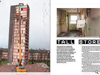 The latest Glaswegian tower block to bite the dust did so with a  whimper, not a bang, but its impact has been no less striking. As the  long arm of Glasgow Housing Association continues to reshape the skyline  we take a look inside Ibroxholm Oval in its dying days. Photography by  David Pollock.