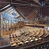 Ben Dawson created the impressive bespoke furniture for the debating chamber and MSPs offices of Scotland\'s new parliament.