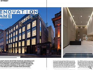 <p>The need to adapt and re-use rather than raze and rebuild has driven the  revitalisation of an anonymous Edinburgh office block which sits  demurely among its more stately neighbours following a nuts and bolts  refresh at the hands of Reiach &amp; Hall. Does this herald a shift  toward more sustainable solutions in chastened times? Photography by  Paul Zanre.</p>