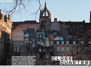 Above Edinburgh's old town a craggy new outcrop has quietly emerged.  overlooking princes street's army of shoppers it fuses crow stepped  gables with contemporary balconies in an attempt to bring the high life  back to the city but does this mean that city centre living is again on  the up?