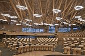 The Debating Chamber in the Scottish Parliament