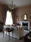 Drawing Room  with restored cornice and new fireplace