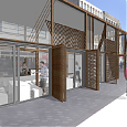 Argyle Street Upgrade, Cafe and Market Kiosks