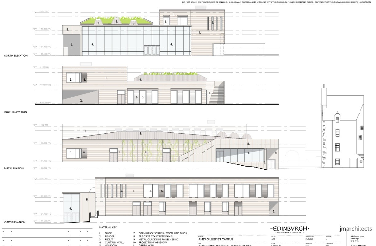 Jm architects submit edinburgh school plans august 2011 for New building design plan