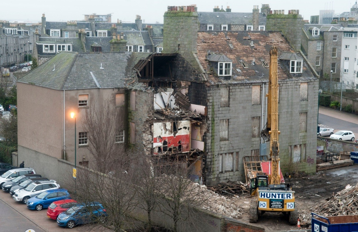 how to find if a house is being demolished