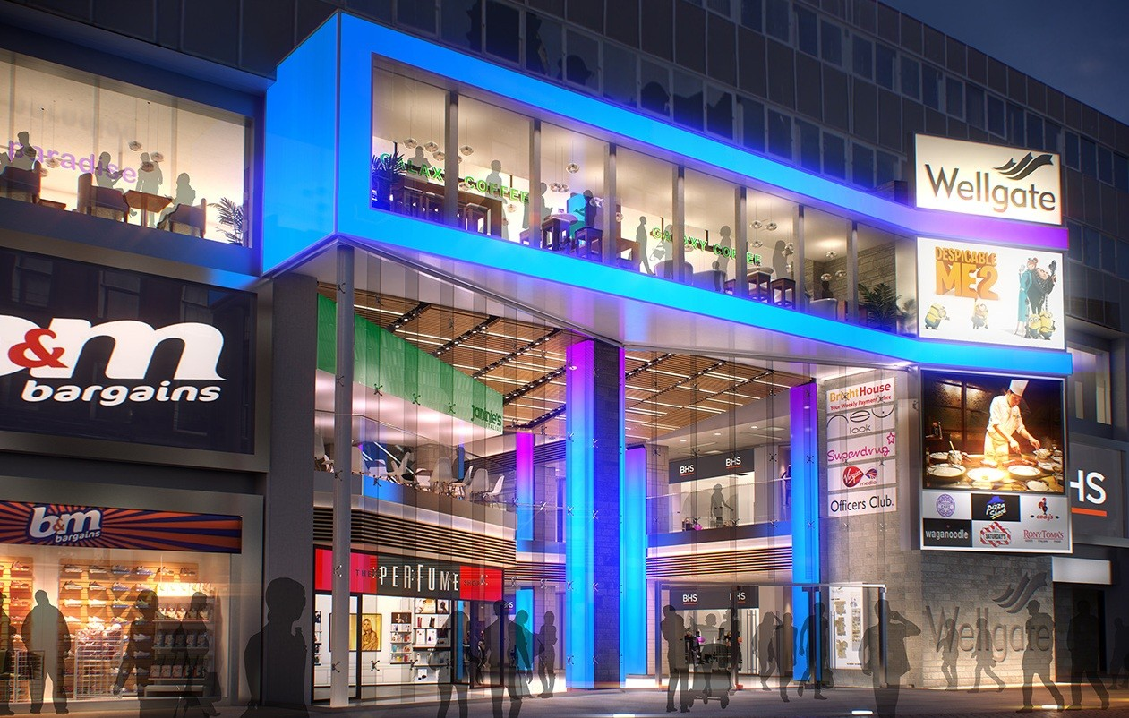 ... in order to transform the city centre mall into a leisure destination