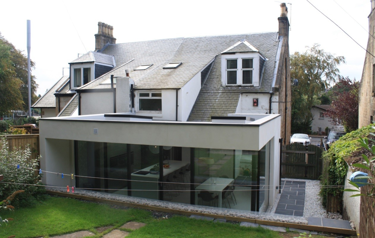 Ailteir studio deliver bearsden home extension october for Extension cube