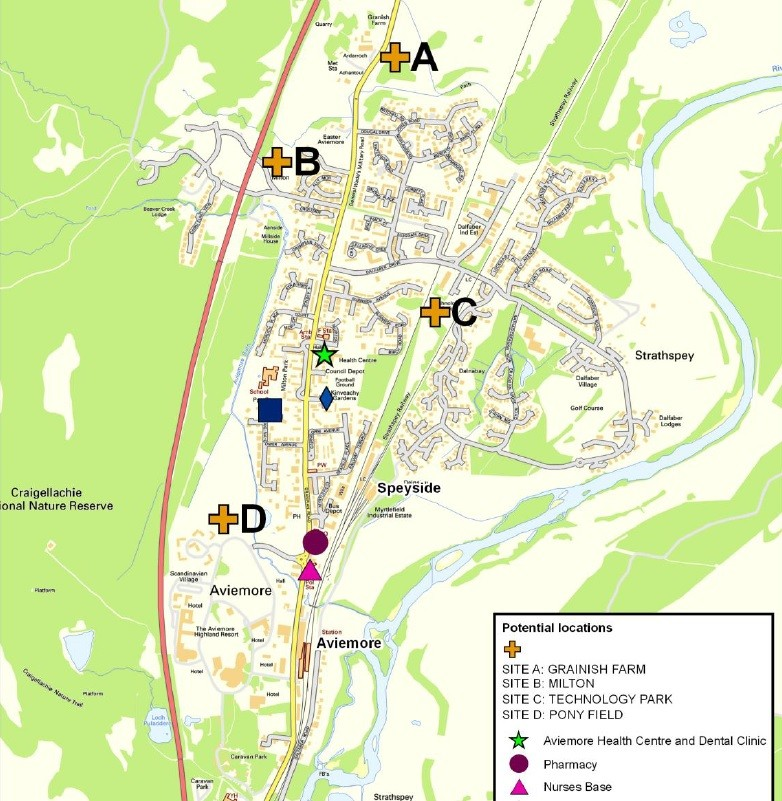 NHS Highland Approve Aviemore Hospital Site : October 2014