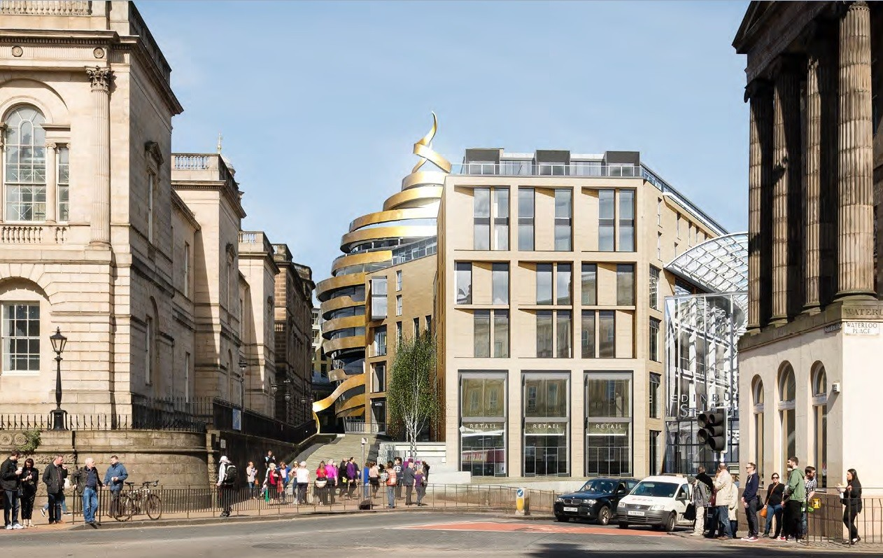 Controversial hotel design approved for edinburgh st james for Design hotel edinburgh