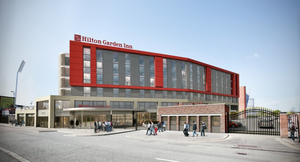 Hotel approved for old trafford cricket ground september for Gardening jobs manchester