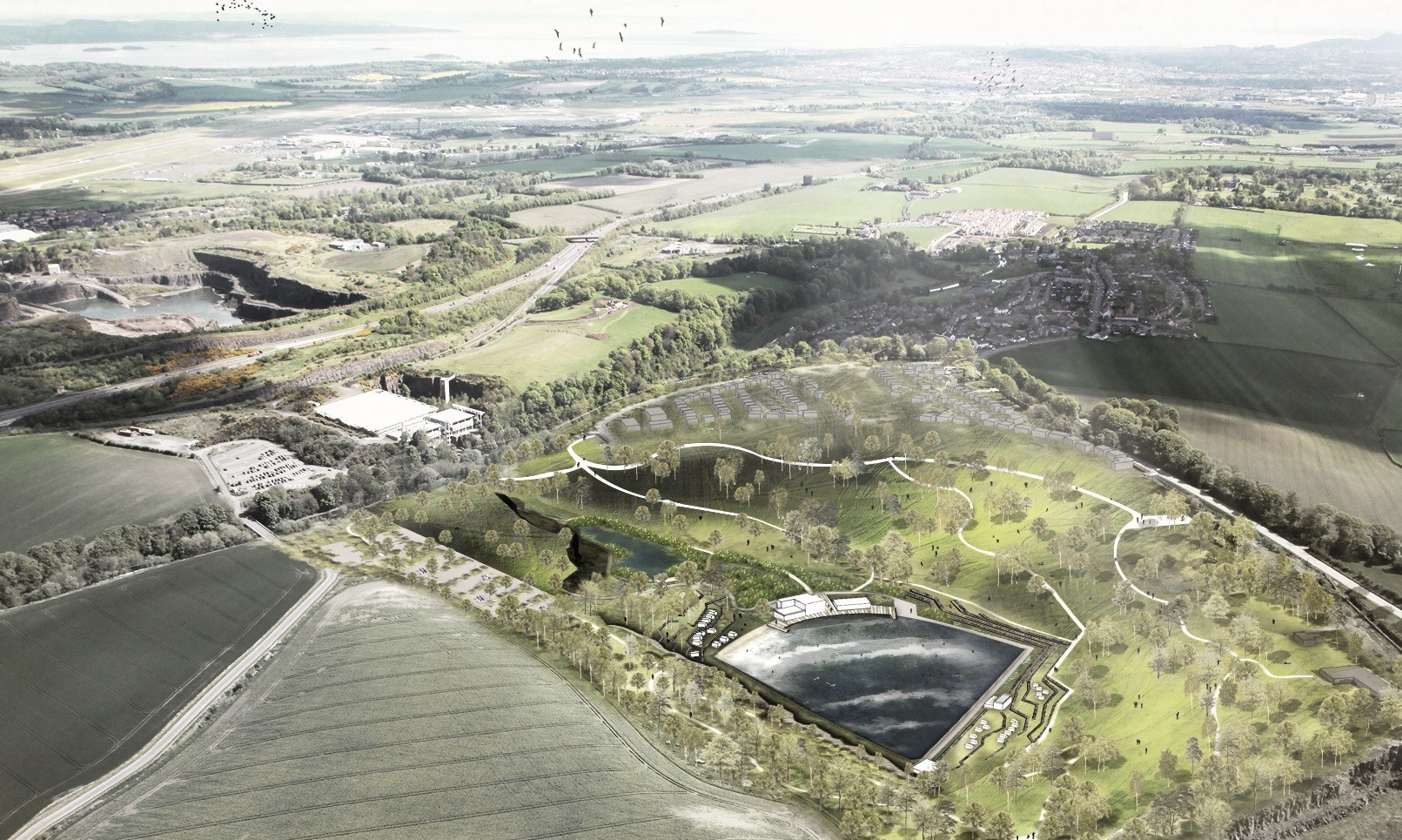The quarry in Edinburgh is proposed to be turned into a surf pool 35