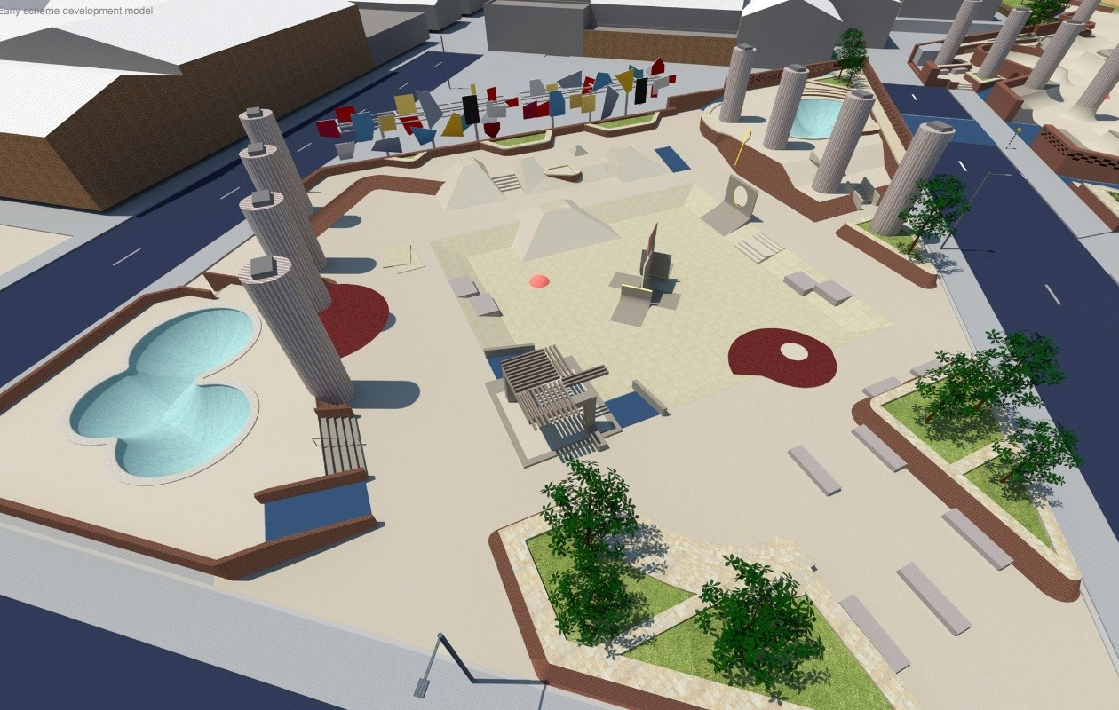 M74 sport park plan unveiled july 2014 news for Sport swimming pool design